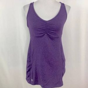 Athleta Tree of Life Tunic Top Purple XXS